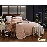 Dolce Mela DM470K Jacquard Damask Luxury Bedding Duvet Covet Set, King
