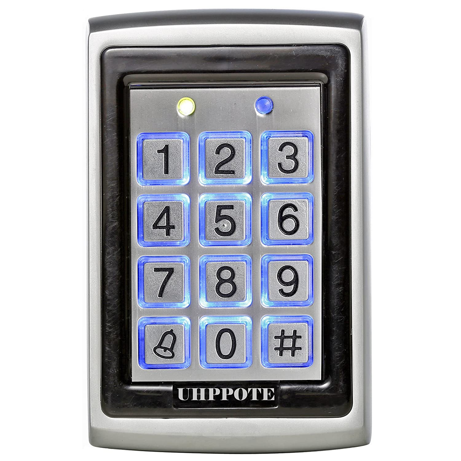 UHPPOTE 125Khz EM-ID Metal Case RFID Access Control Keypad with Back Light Support 500 User UT0212-KA103