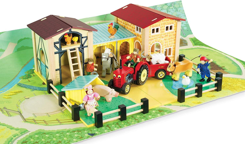 Le Toy Van Tapis de Jeu Anti-Glissement sur Les activit/és de la Ferme 120/x/80/cm