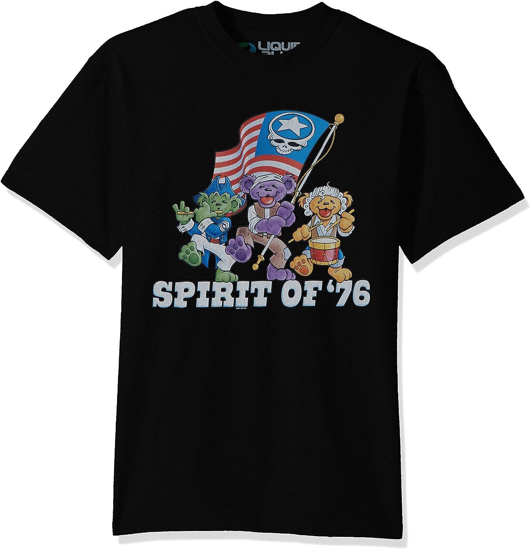 Liquid Blue Men's Plus Size Grateful Dead Spirit of '76 Short Sleeve T-Shirt
