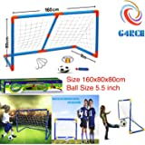 G4RCE® KIDS CHILD FOOTBALL GOAL LARGE POST NET BALL PUMP SET TOY INDOOR OUTDOORS SPORTS GAME TOY BEST GIFT FOR CHILDREN 3 YEARS OLD UP