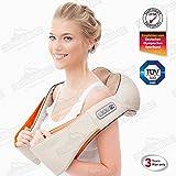 Donnerberg ORIGINAL NM089 appareil de massage shiatsu pour le cou, les épaules, le dos-masseur électrique cervical avec la fonction de chauffage à infrarouge-TÜV certificat-3 ans de garantie(beige)