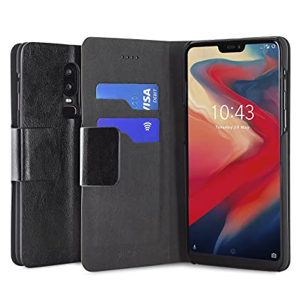 new style a6a1d f2f04 Amazon.com: Olixar OnePlus 6 Wallet Case - PU Faux Leather - Slim ...