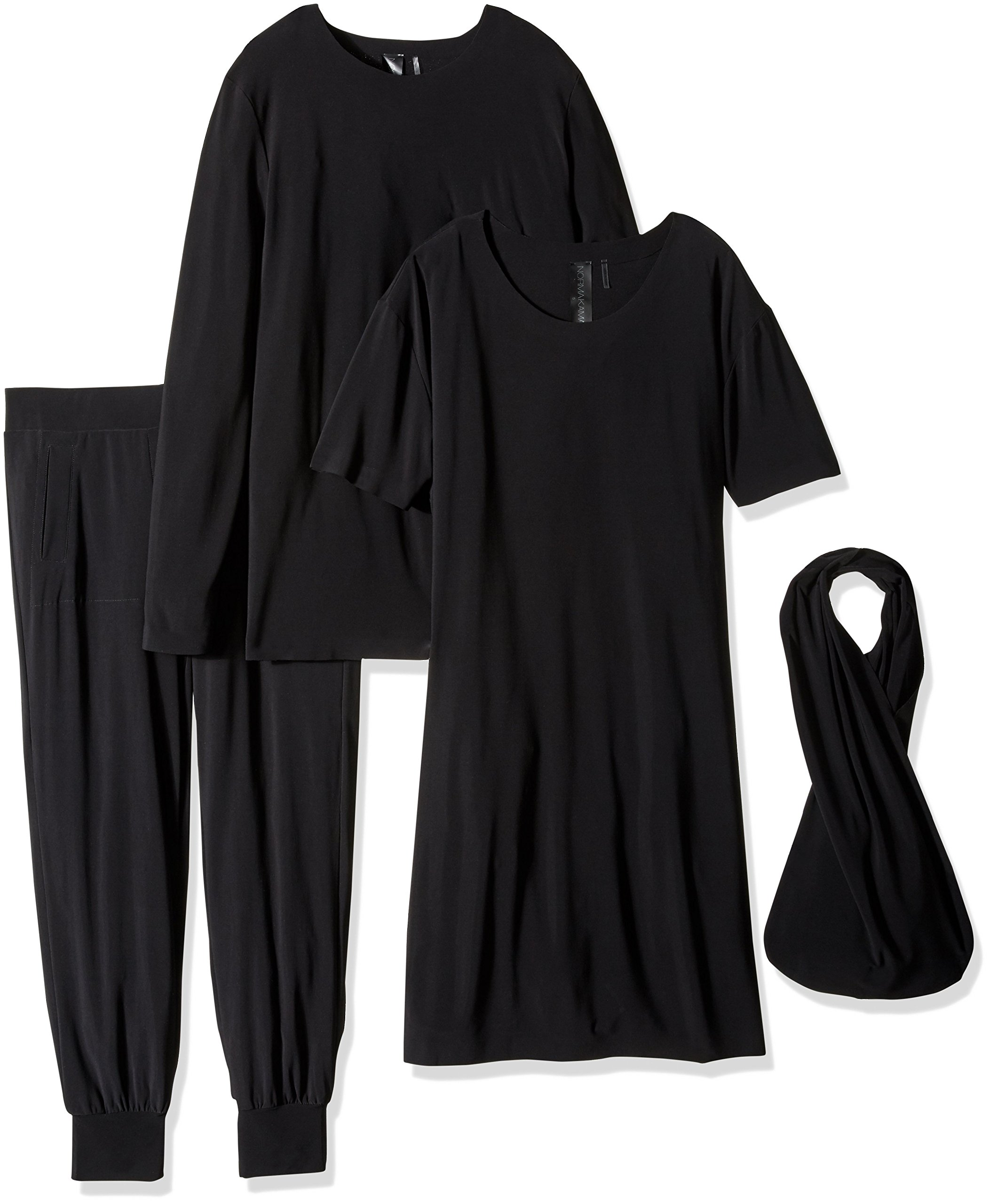 Norma Kamali Women's Go Travel 3 Pc Pack, Black, Small by Norma Kamali