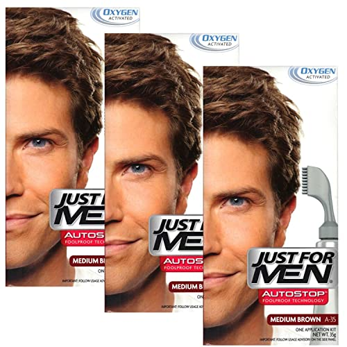 3x just for men autostop hair colour a35 medium brown
