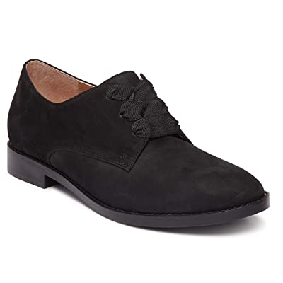 Vionic Women's Wise Evelyn Lace-Up Shoes - Ladies Derby Flats with Concealed Orthotic Arch Support | Flats