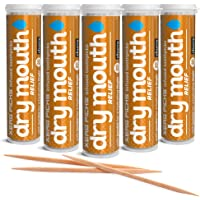 Xero Picks Infused Flavored Toothpicks for Long-Lasting Fresh Breath & Dry Mouth Prevention - 100 Picks (5 Pack) (Churro…