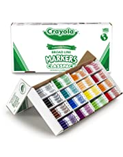 Crayola Markers Broad Line Classpack, 16 Colors, School and Craft Supplies, Teacher and Classroom Supplies, Gift for Boys and Girls, Kids, Ages 3,4, 5, 6 and Up, Back to school, School supplies, Arts and Crafts