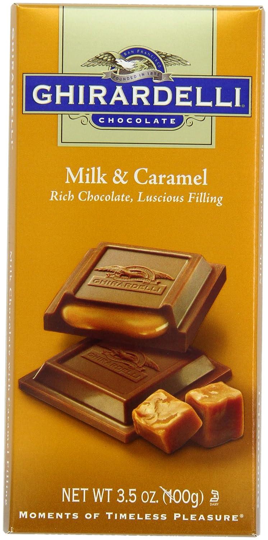 Amazon.com : Ghirardelli Chocolate Bar, Milk and Caramel, 3.5 oz ...