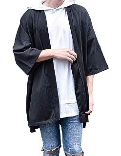 LOST IN BKK Mens Long Oversized Kimono Cardigan Noragi Street Jacket Haori Man Yukata Coat