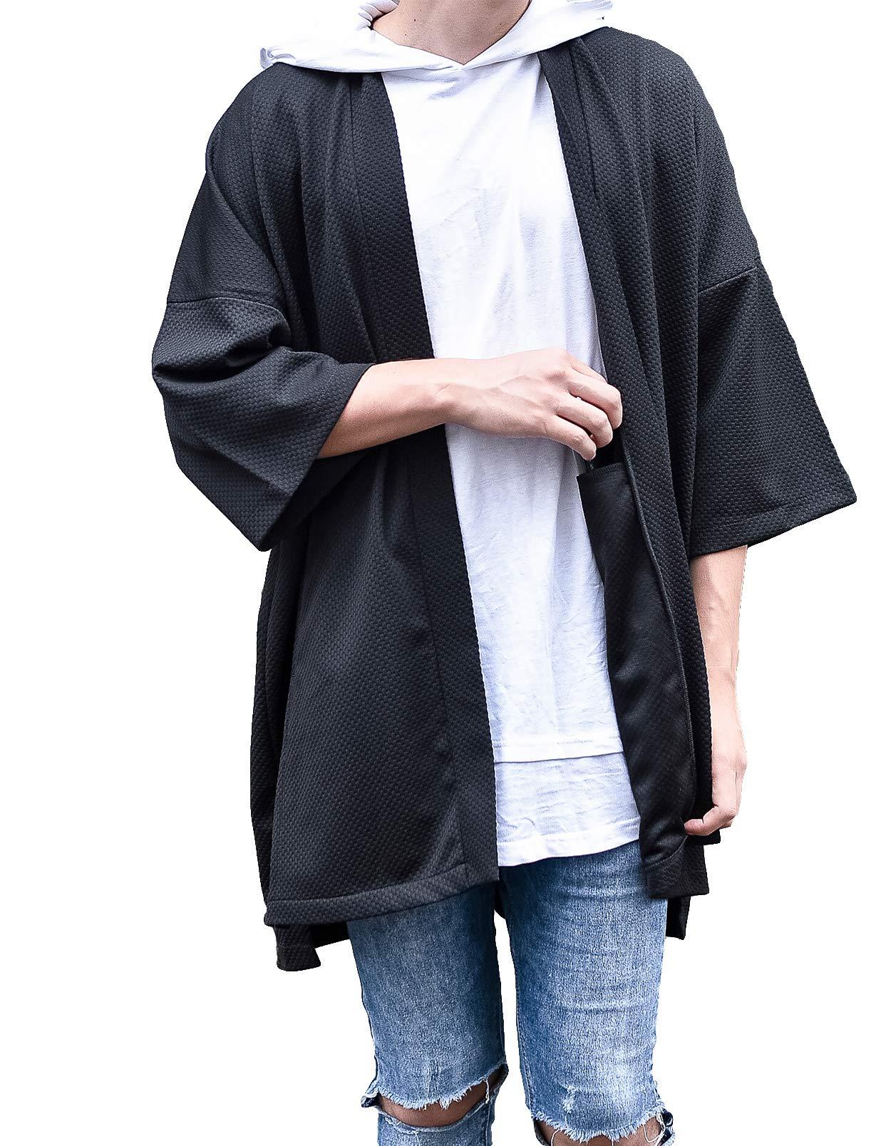 hommes en vrac Kimono Cardigan noragi Veste japonais YUKATA Manteau HAORI