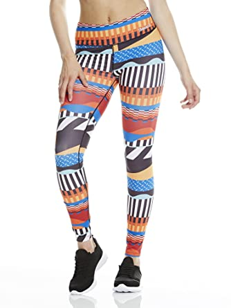 Womens Bold Stripe AOP Leggins Leggings, Blue (Royal Blue), Large Bench