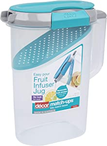 Décor Match-ups Clips | Food Storage Pantry Container | Ideal for Meal Prep | BPA Free | Dishwasher, Freezer & Microwave Safe, 2.4L, Clear/Teal