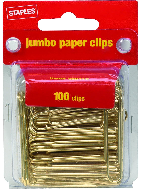 confezione graffette doro jumbo graffette liscio 100
