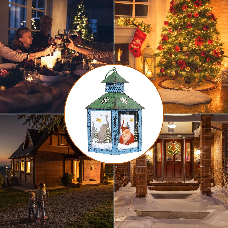 APEX LIVING Christmas Candle Lantern Decoration Rustic Snowman