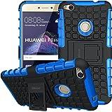 ykooe Huawei P8 Lite 2017 Hülle, (Silikon Series) P8 Lite 2017 Dual Layer Hybrid Handyhülle Drop Resistance Handys Schutz Hülle mit Ständer für Huawei P8 Lite 2017
