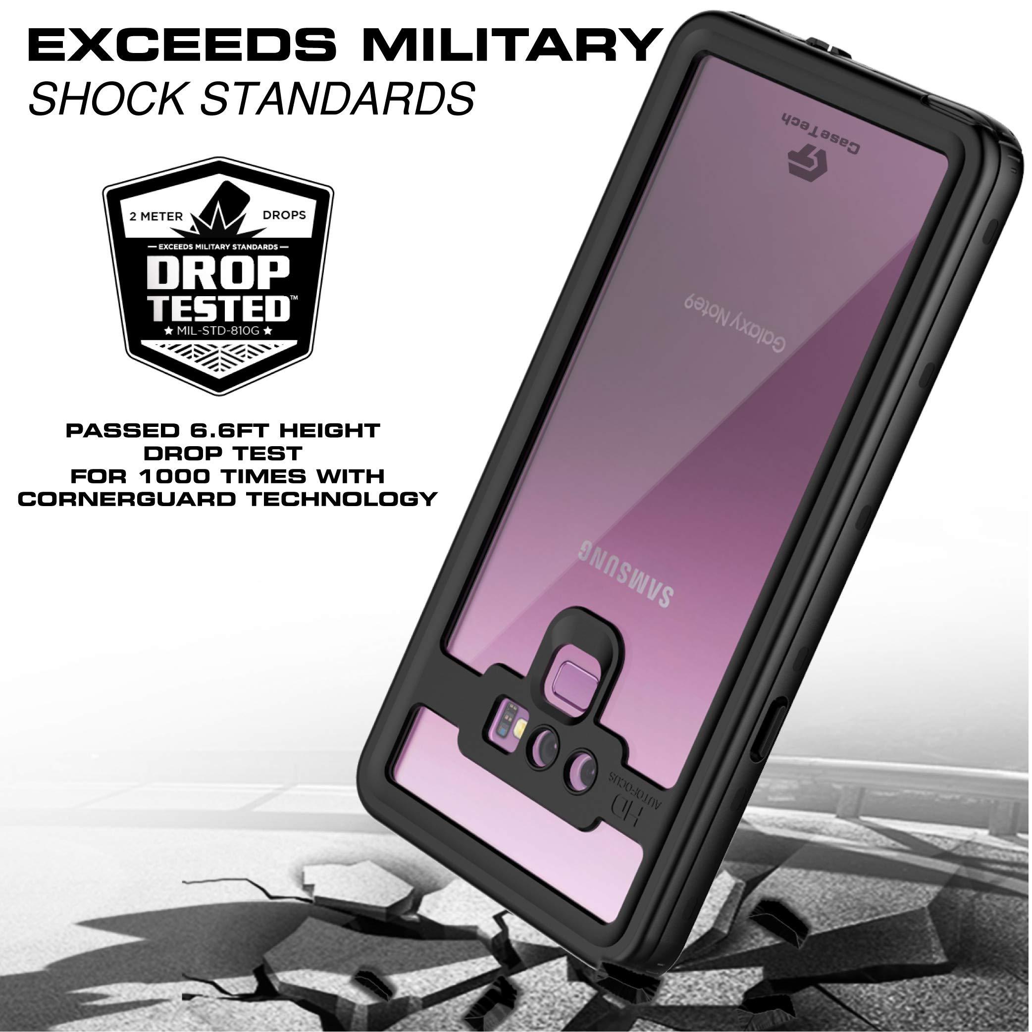 Galaxy Note 9 Case Waterproof IP68 Certified Shockproof Dirtproof Heavy Duty Rugged Armor Cover (Black)