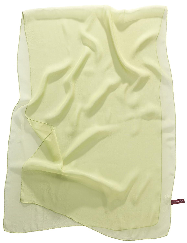 Modassori Seidenschal, Artikelname Georgette, 100 % Seide, (Georgette), Farbe Lindgrün, 160 x 55 cm