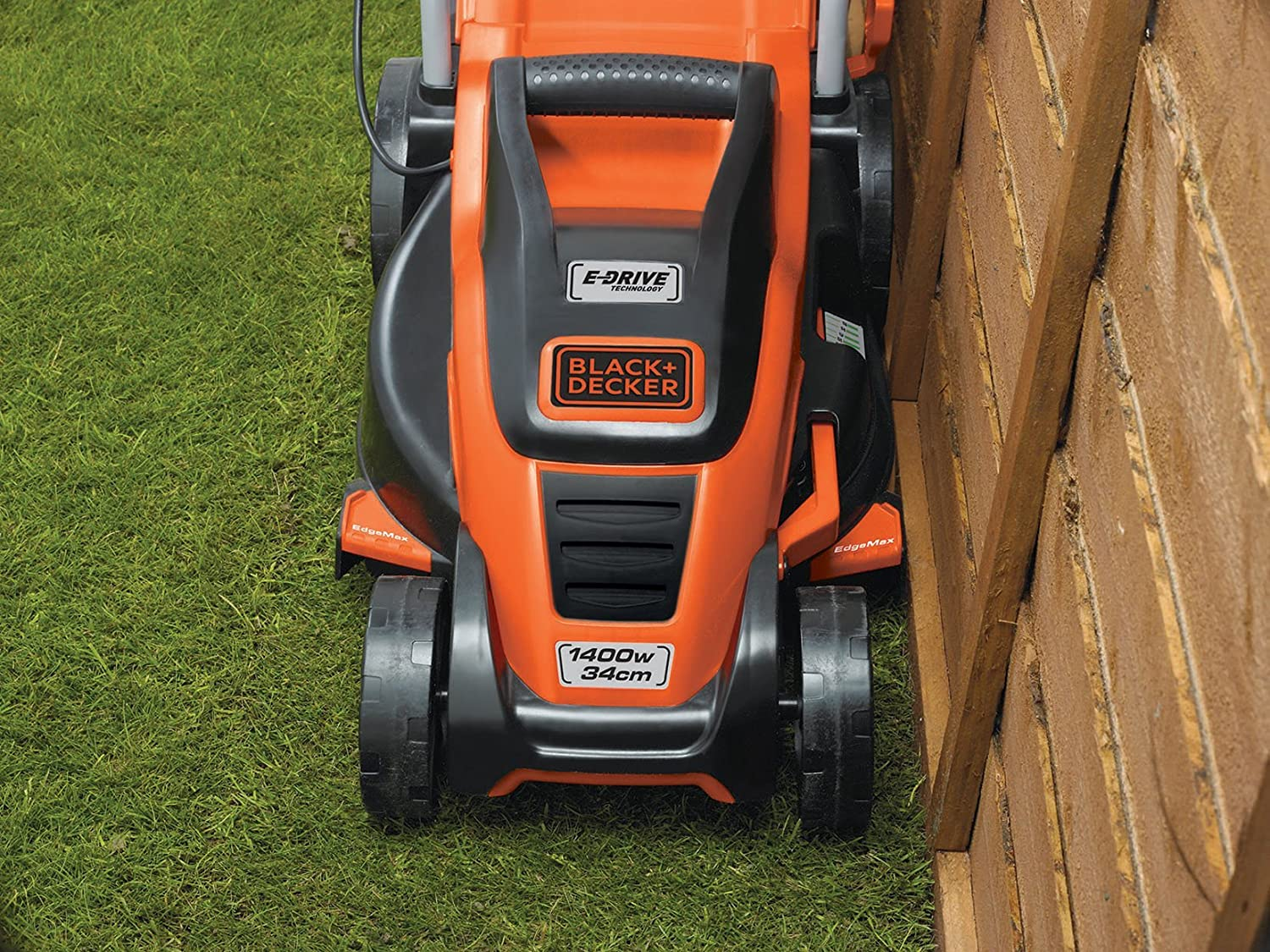 Black & Decker EMAX34S - Cortacésped (Cortacésped manual, 34 cm, 2 cm, 7 cm, Cuchillas giratorias, 20, 30, 40, 50, 60, 70 mm)