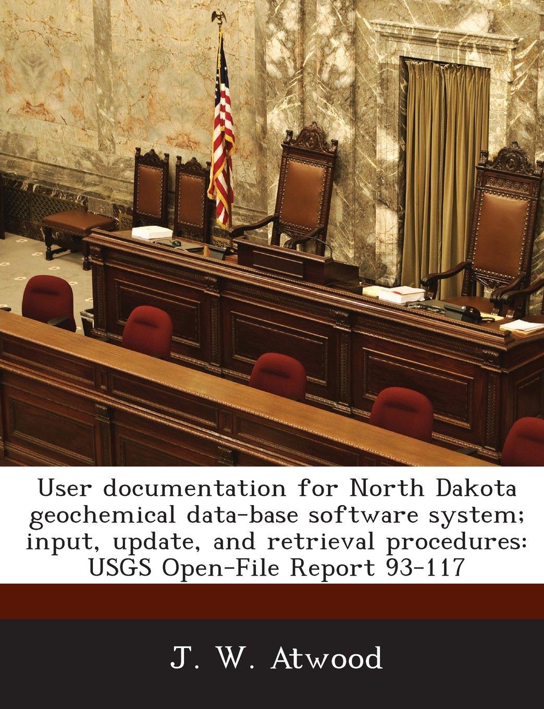 User documentation for North Dakota geochemical data-base software system; input, update, and retrieval procedures: USGS Open-File Report 93-117 PDF