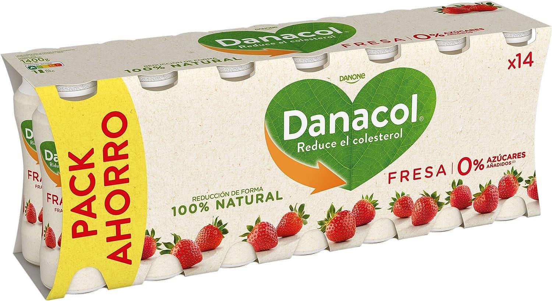 Danacol - Danone Beber Fresa Pack 14 x 100 g: Amazon.es: Alimentación y bebidas
