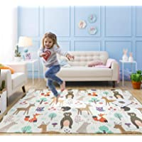 Infant Shining Baby Play Mat, 2x1.5M BPA Free Foldable Mat for 0-6 Years Old Children, Animal
