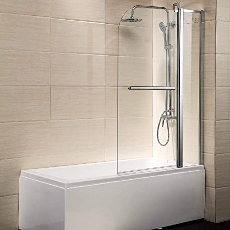 Pivot Radius Framed 14 Clear Glass 55x39 Bath Tub Shower Chrome