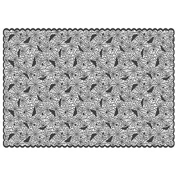 Cortinas De Halloween Rectangular Polyester Lace Warp Curtains Telarañas Bats Manteles Manteles Chimeneas Adecuado Para Fiestas De Halloween Y Noches De ...
