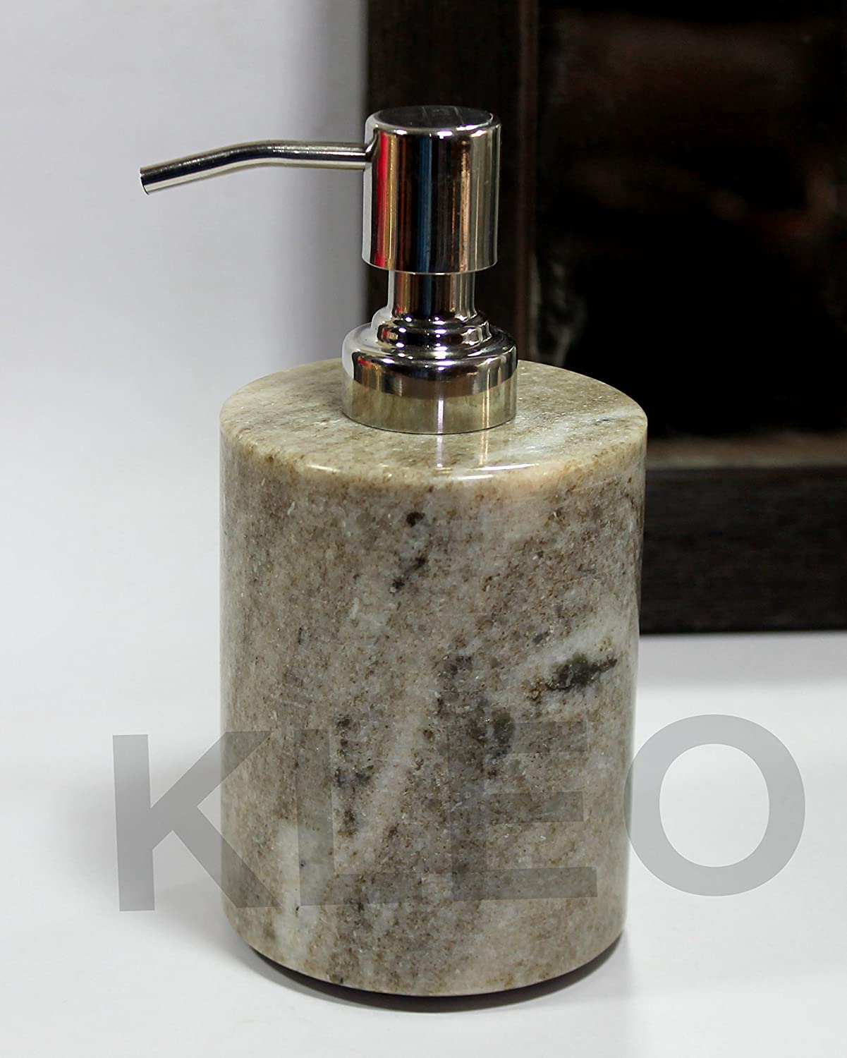 Kleo Soap Dispenser Made Of Marble In Luxury Bathroom Accessories Bath Accessories Lotion Dispenser Brownish Amazon In Home Kitchen