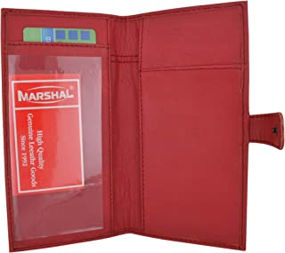 Genuine Leather Basic Checkbook Holder with Snap Closure
