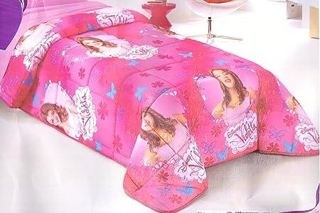 Trapunta Letto Singolo Bambina.Russo Tessuti Trapunta Piumone Letto Singolo 1 Piazza Violetta Disney Rosa Bambina Amazon It Casa E Cucina