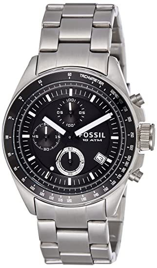 0cd11860f9a Image Unavailable. Image not available for. Colour  Fossil Decker  Chronograph Analog Black Dial Men s Watch ...
