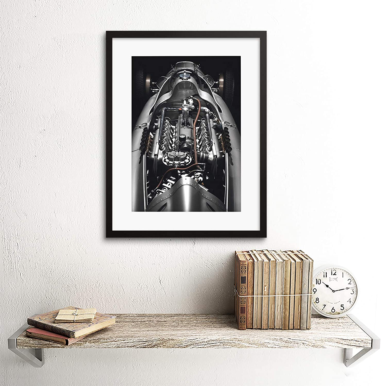 PHOTO MOTOR ENGINE AUDI CLASSIC 03G BLACK FRAMED ART PRINT PICTURE B12X7623