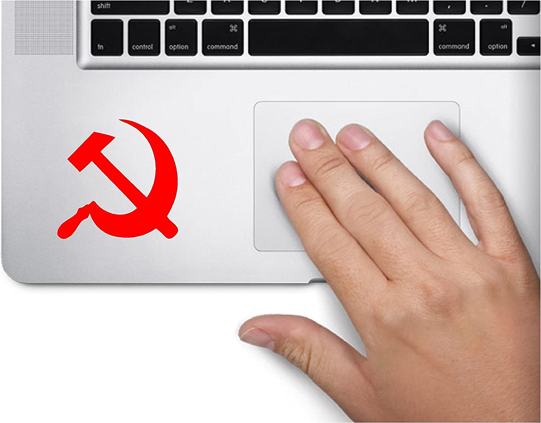 ExpressDecor USSR Soviet Sickle Hammer Russian Revolution Computer Laptop Symbol Decal Family Love Car Truck Sticker Window (Red)