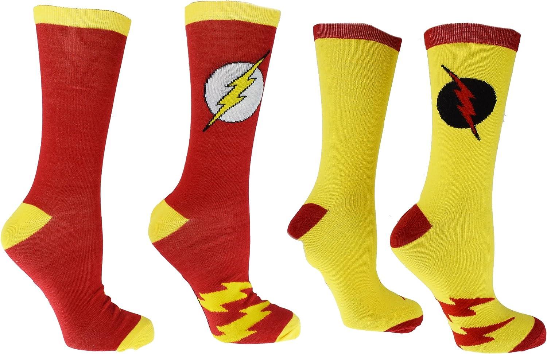 DC Comics Flash Reverse Flash 2 Pack Casual Crew Socks