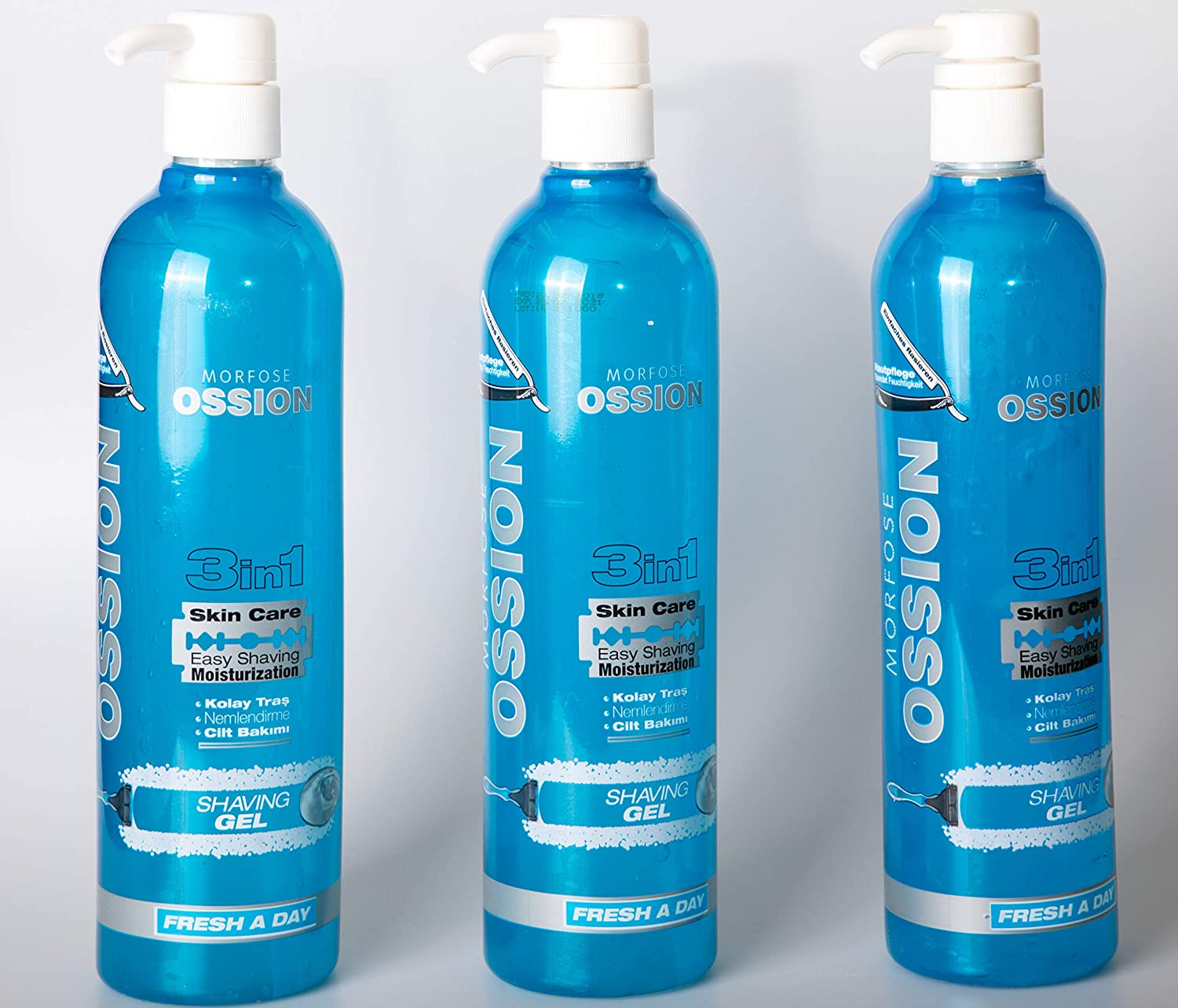 3X700ML – Ossion Shaving Gel 3-in-1 Saykos GmbH