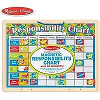 Melissa & Doug Magnetic Responsibility Chart (Developmental Toy, Encourages Good Behavior, 90 Magnets)