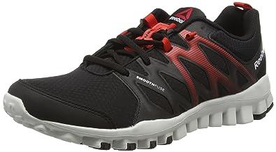 Reebok Realflex Trainer 4.0, Chaussures de Fitness Homme, Noir (BlackMotor Red