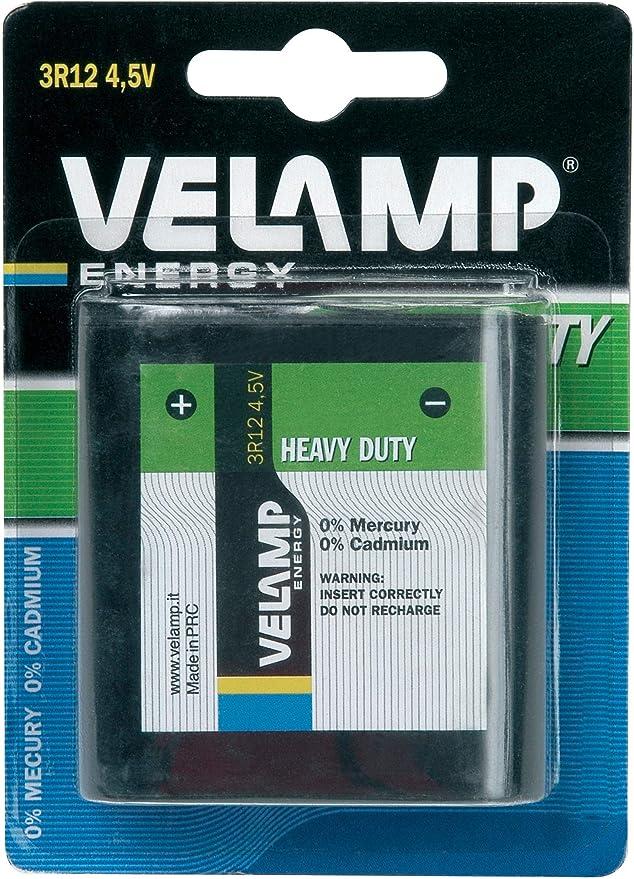 4.5 V Velamp 3R12//1BP Pila 3R12 Bater/ía Plana de 4.5V tecnolog/ía Zinc-Carbono experimentos Ideal para linternas Verde