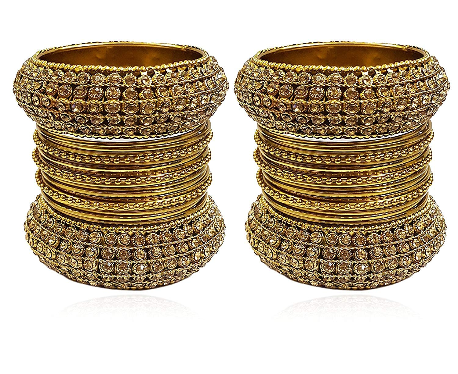 livraison rapide meilleure vente site web pour réduction YouBella Ethnic Bollywood Gold Plated Traditional Indian Bracelets Bangles  Jewellery for Women and Girls