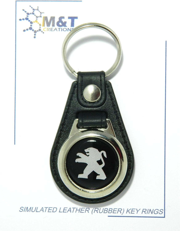Schlüsselanhänger Gummi In Lederoptik Mit 3d Medaillon Aus Kunststoff Auto