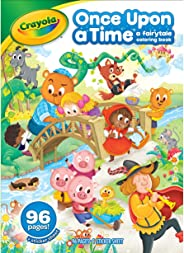 Crayola Fairy Tale Coloring Book with Stickers, 96 Coloring Pages, Gift for Kids, Ages 3, 4, 5, 6