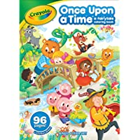 Crayola Fairy Tale Coloring Book with Stickers, 64 Coloring Pages, Gift for Kids, Ages 3, 4, 5, 6