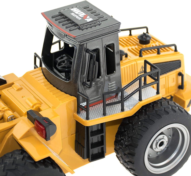 Allradantrieb und Licht Outdoor geeignet Baustellenfahrzeug mit Metallschaufel efaso 1:18 RC Radlader 1520