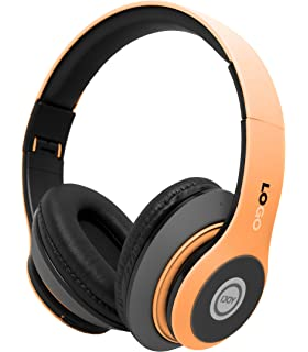 iJoy Matte Finish Premium Rechargeable Wireless Headphones Bluetooth Over Ear Headphones Foldable Headset with Mic (