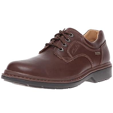 Clarks Pour Hommes Chaussure Lacets En Cuir Noir Style - Tilden Marche G Pour wq2Z6T
