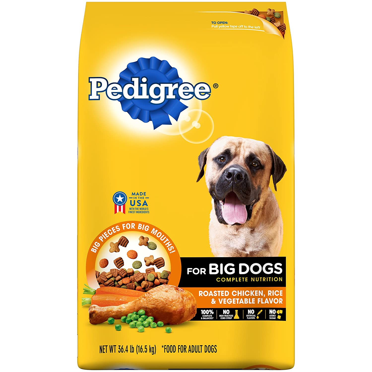 Amazon Com Pedigree Big Dogs Adult Complete Nutrition Roasted