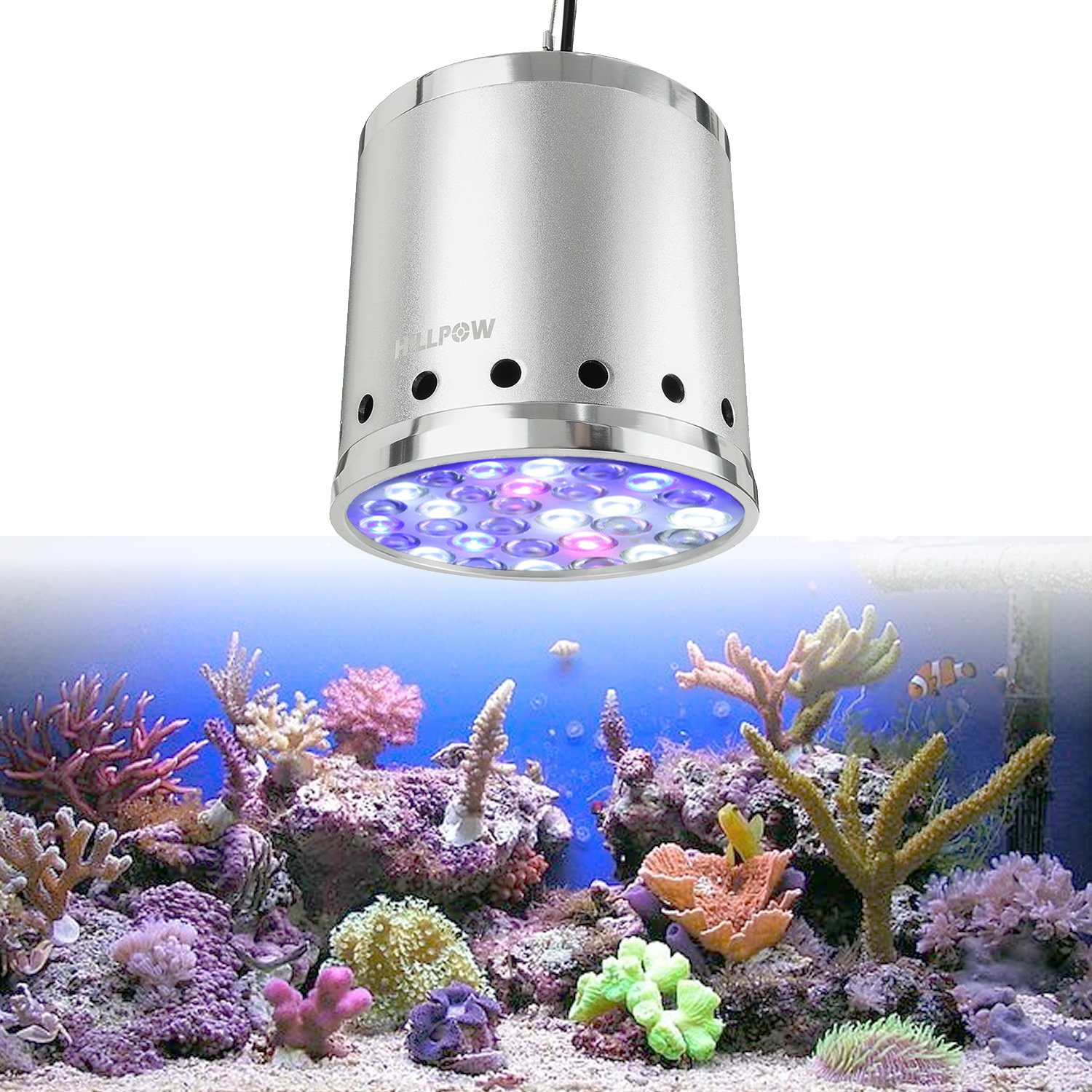 hillpow 30leds aquarium licht 90w fisch korallenlicht super sound off 30 leds mit fernbedienung. Black Bedroom Furniture Sets. Home Design Ideas