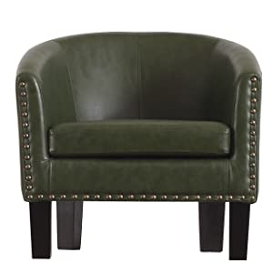 Rosevera C2LG Duilio Barrel Chair, Olive Green
