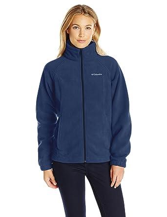 00525e362418b4 Columbia Women s Petite Benton Springs Full Zip Fleece Jacket - Medium -  Columbia Navy
